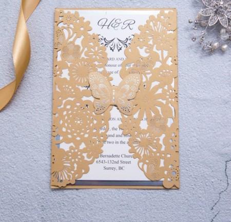Partecipazioni Matrimonio Farfalla