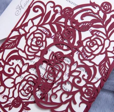 "Partecipazioni Matrimonio Asimmetrico ""Rose"""