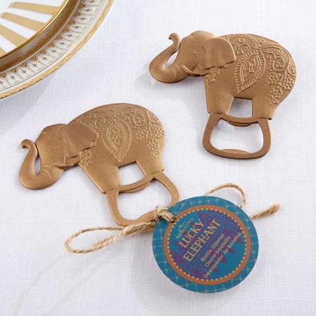 Apribottiglie dorato Elefante Fortunato