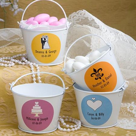 Mini Secchielli Personalizzati - Design Matrimonio