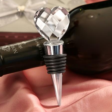 Tappi per bottiglie con cuore di cristallo - ULTIMI 12 PEZZI