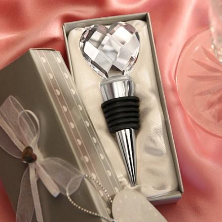 Tappi per bottiglie con cuore di cristallo