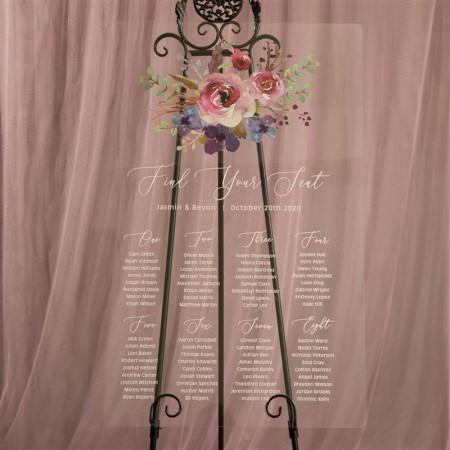 Tableau de Mariage in Plexiglass