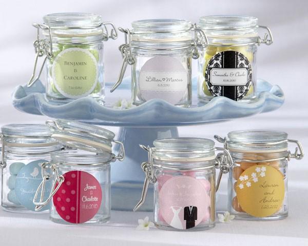 Barattoli di vetro personalizzati design matrimonio - Vasetti vetro ikea ...