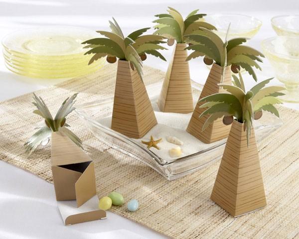 Popolare Scatole portaconfetti a forma di palma NH57