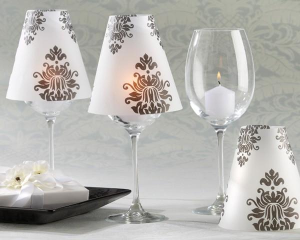 paralumi damascati - Paralume Con Bicchieri Di Carta