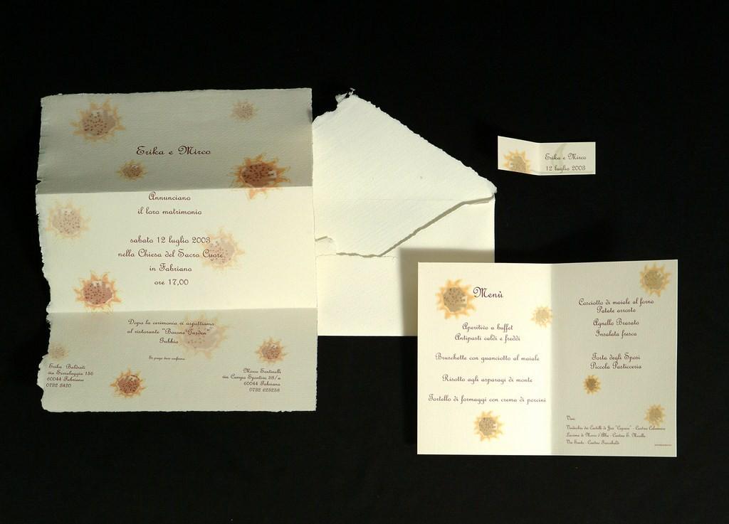 Partecipazioni Matrimonio Girasoli : Partecipazione quot i girasoli partecipazioni matrimonio