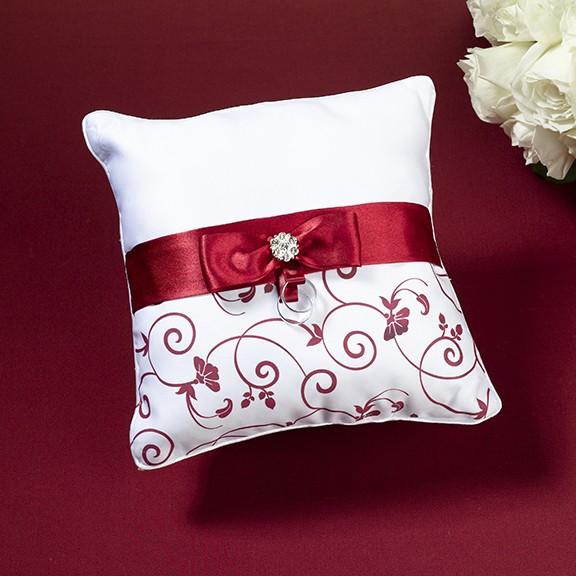 Cuscino portafedi rosso e bianco for Cuscino per cani fai da te