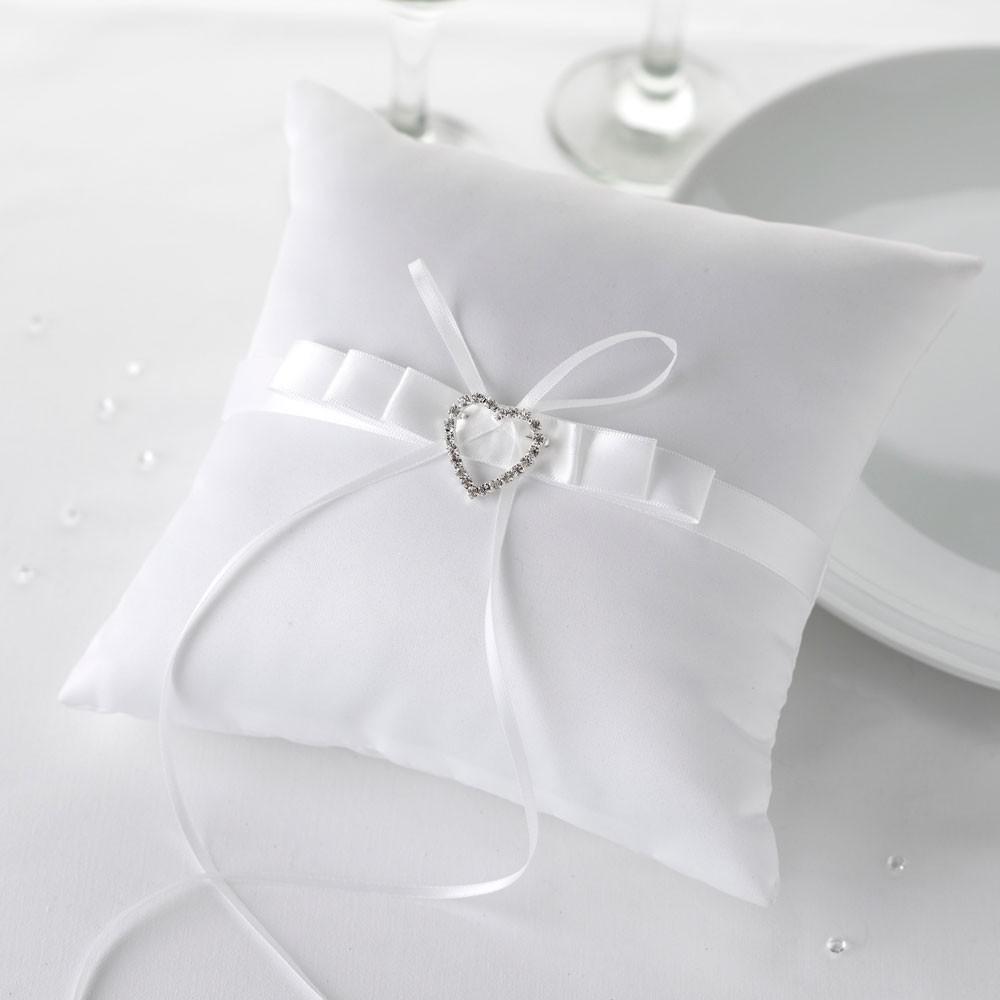 Immagini Cuscini Portafedi.Cuscino Portafedi Cuore Bianco Cuscini Portafedi Addobbi