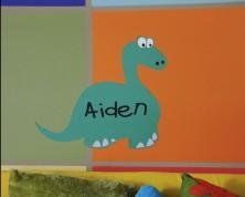 Decalcomania Dinosauro Per Pareti (Personalizza)