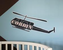 Decalcomania Elicottero Militare Per Pareti (Personalizza)