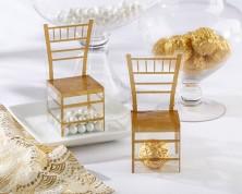 """Scatola per bomboniere """"Gold Chiavari"""" in oro (set da 24)"""