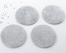 Sottobicchiere Argento Glitter