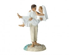 Cake Topper - Sposi in spiaggia (Caucasion)