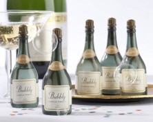 Bolle di sapone in bottiglia di champagne