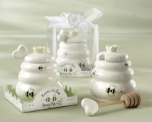 Vasetto per il miele con mestolino