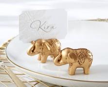 Segnaposto a forma di elefante dorato