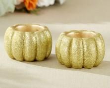 Lumino votivo in oro glitterato (set da 2)