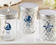 Barattolo trasparente personalizzato – linea nautica (Baby)