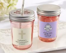 Barattolo rosa personalizzato (Tema Religioso)