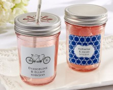 Barattolo rosa personalizzato - (Matrimonio)