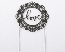 "Cake Topper ""Love"" Lasercut"