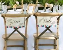 "Decorazione ""piume"" per sedie sposi"