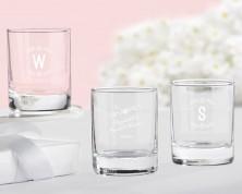 Bicchierini da liquore/Portacandeline personalizzati – Linea rustica (Addii al nubilato)