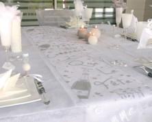 """Guida da tavolo in organza """"Fête"""" (5m)"""