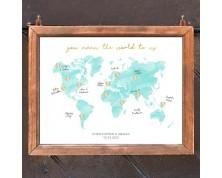Tableau de Mariage e Guestbook Tema Viaggio