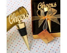 """Tappo per bottiglie """"Cheers"""" in oro"""
