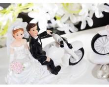 Cake Topper sposi su motocicletta