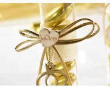 Provetta per confetti con decori dorati