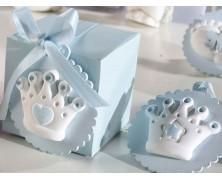 decorazioni nascita e battesimo color azzurro in gesso