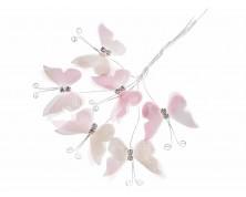 Farfalla in stoffa con brillanti e gambo modellabile