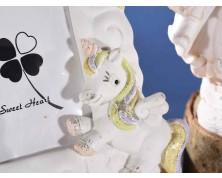Portafoto con decoro unicorno, arcobaleno e palloncini