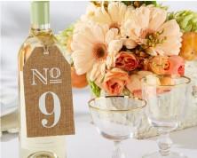 Numeri per tavoli in iuta (7-12)