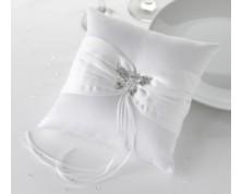 "Cuscino Portafedi ""Farfalla"" (Bianco)"