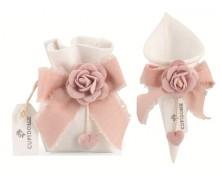 """Saccoccio e Cono in tessuto """"Rosa Soft"""""""