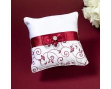 Cuscino Portafedi Rosso e Bianco