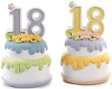 Salvadanaio torta 18 anni