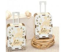 Portaconfetti legno TROLLEY LOVE