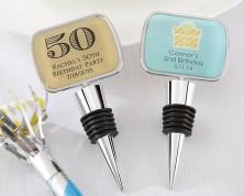 Tappi con porta etichette in vetroresina - Design Compleanno - ULTIMI 50 PZ