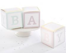 """Portaconfetti Cubi """"Baby"""" (Set di 24)"""