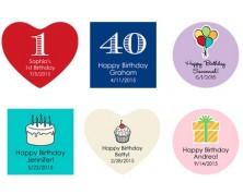 Adesivi e Tag - Design Compleanno e Feste