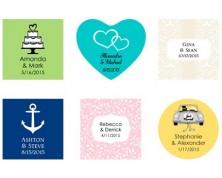 Adesivi e Tag - Design Matrimonio