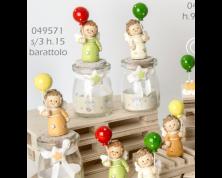 """Barattolini """"Angelo con Palloncino"""" (set da 3)"""