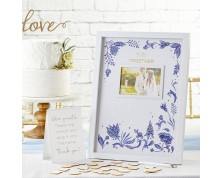 "Guestbook Tema Floreale ""Intensamente Blu"""