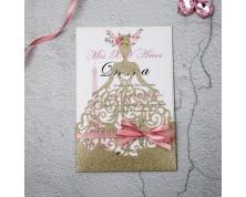 """Partecipazioni in carta glitter """"Principessa"""""""