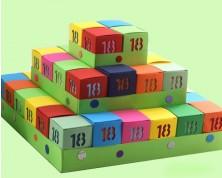 Torta portaconfetti 18 anni multicolor